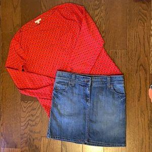 Tommy Hilfiger blue jean mini skirt